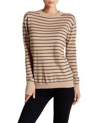 Love Token - Long Sleeve Keyhole Stripe Sweater - Lyst