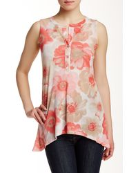 Sweet Pea By Stacy Frati - Printed Tunic Tank - Lyst