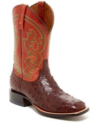 Lucchese - Genuine Ostrich Leather Boot - Lyst