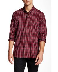 Victorinox - Bond Long Sleeve Ibach Red Tailored Fit Shirt - Lyst