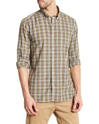 Victorinox - Long Sleeve Plaid Tailored Fit Shirt - Lyst