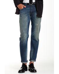 DKNY - Tinted Rip And Repair Wash Bleecker Straight Leg Jean - Lyst