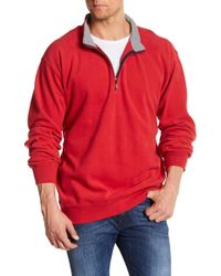 Peter Millar - Melange Fleece Long Sleeve Pullover - Lyst