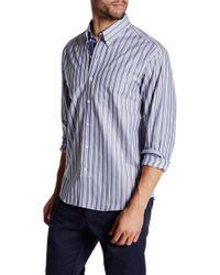 Cutter & Buck - Long Sleeve Atherton Stripe Button Up Shirt - Lyst
