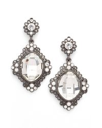 Tasha - 'vintage' Crystal Drop Earrings - Lyst