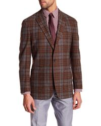 Peter Millar - The Napoli Mahogany Plaid 2 Button Notch Lapel Jacket - Lyst
