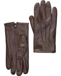 Joe Fresh - Leather & Faux Fur Gloves - Lyst