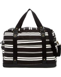 Madden Girl - Striped Weekend Bag - Lyst