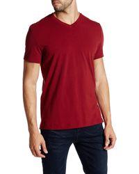 Kenneth Cole - Short Sleeve V-neck Shirt - Lyst