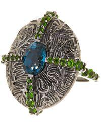Stephen Dweck - London Blue Topaz & Green Chrome Diopside Ring - Size 8 - Lyst