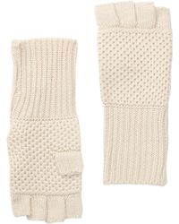 Michael Stars - Seed Stitched Fingerless Gloves - Lyst