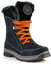 Santana Canada - Messie Faux Fur Trim Short Waterproof Boot - Lyst