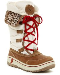 Santana Canada - Mirabelle Waterproof Faux Fur Lined Lace-up Boot - Lyst