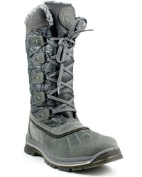Santana Canada - Mulino Faux Shearling Trim Quilted Shaft Waterproof Boot - Lyst