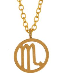 Kris Nations - 14k Gold Plated Zodiac Circle Pendant Necklace - Lyst