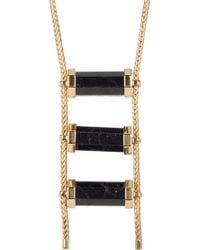 House of Harlow 1960 - Triple Black Tourmaline Drop Necklace - Lyst