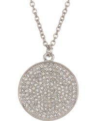 Karen Kane - New Starry Disc Pave Crystal Pendant Necklace - Lyst