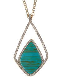 Karen Kane - Breakwater Crystal & Turquoise Pendant Necklace - Lyst