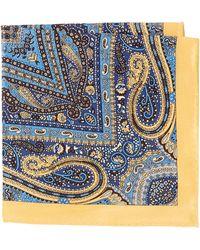 Burma Bibas Paisley Printed Silk Pocket Square