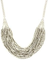 Sparkling Sage - Layered Bead And Flower Detailed Necklace - Lyst