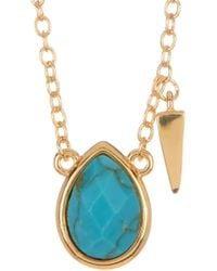 Melinda Maria - Jacob Turquoise Charm Necklace - Lyst