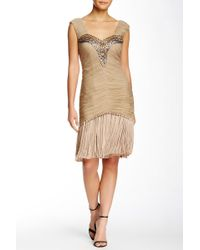 Sue Wong - Embroidered Fringe Dress - Lyst