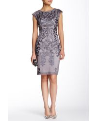 Sue Wong - Embroidered Cap Sleeve Dress - Lyst