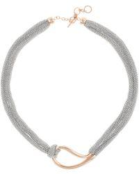 Adami & Martucci - 18k Rose Gold Vermeil Loop Pendant Necklace - Lyst