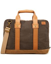 Marc New York - Fairfield Leather Trimmed Top Handle Briefcase - Lyst