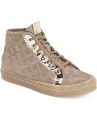 Attilio Giusti Leombruni - Quilted Leather High Top Sneaker (women) - Lyst