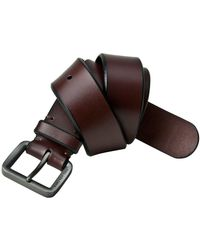 Marc New York - Henry Beveled Leather Belt - Lyst