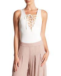 Ark & Co. | Lace Up Bodysuit | Lyst