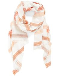 Hinge - Embroidered Stripe Scarf - Lyst