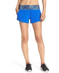 Zella - 'speedster' Running Shorts - Lyst