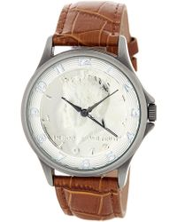 August Steiner - Men's Quartz Croc-embossed Leather Strap Watch - Lyst
