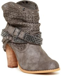 Not Rated - Sidekick Embellished Short Boot - Lyst