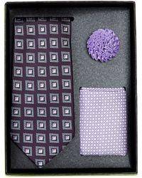 Bristol & Bull - Navy Lavender Tie Silk Set - Lyst