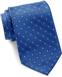 David Donahue - Square Pattern Silk Tie - Lyst
