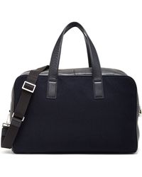 Jack Spade - Wool & Genuine Full Grain Leather Overnight Bag - Lyst