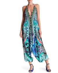 Shahida Parides - Printed Harem Silk Jumpsuit - Lyst