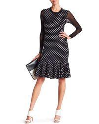 Petit Pois - Long Sleeve Polka Dot Print Dress - Lyst