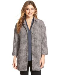 Gibson - Plaid Snap Front Topper - Lyst