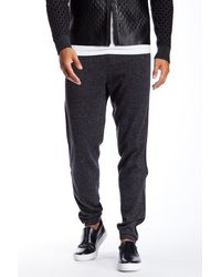 Quinn - Carlyle Genuine Leather & Cashmere Jogger - Lyst