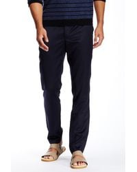 Quinn - Lance Slim Fit Leather Yoke Trouser - Lyst