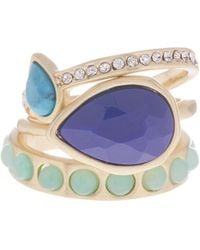 Karen Kane - Sky & Sea Stacking Ring Set - Size 9 - Lyst