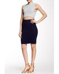 C&C California - Ashley Ruched Mini Skirt - Lyst