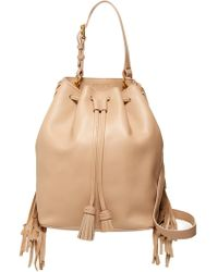 10 Crosby Derek Lam - Prince Fringe Leather Bucket Bag - Lyst