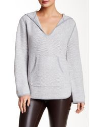 LOMA - Basket Stitch Wool Blend Hoodie Pullover - Lyst