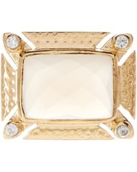 Melinda Maria - Carly Cz & White Onyx Ring - Lyst