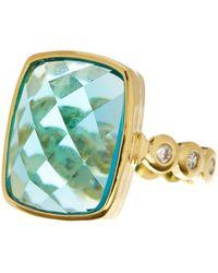 Melinda Maria - Mia Tourmaline Scallop Band Ring - Size 8 - Lyst